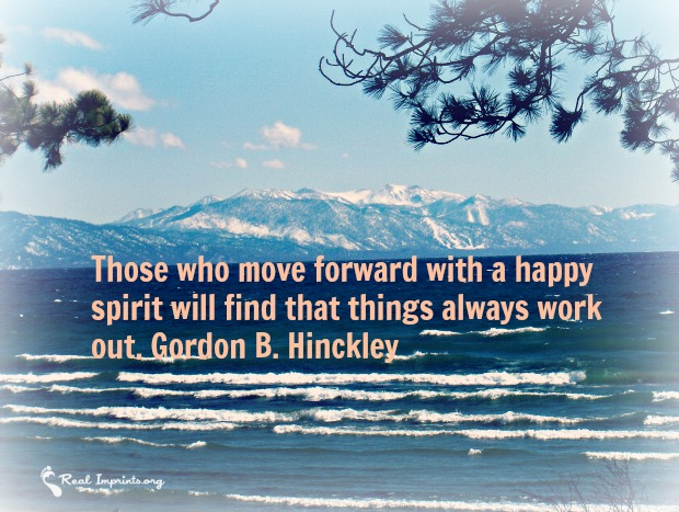 Move forward with happy spirit