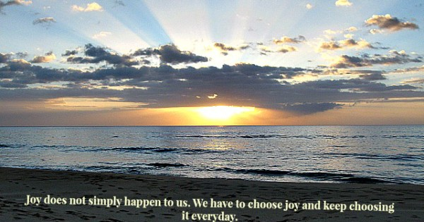 Joy Does Not Simply Happen to Us
