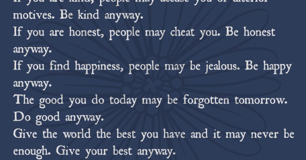 Forgive Them Anyway