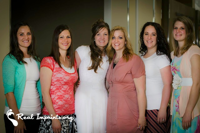 KayCee at her wedding with friends