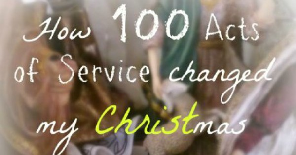 "How ""100 Acts of Service"" changed my Christmas"