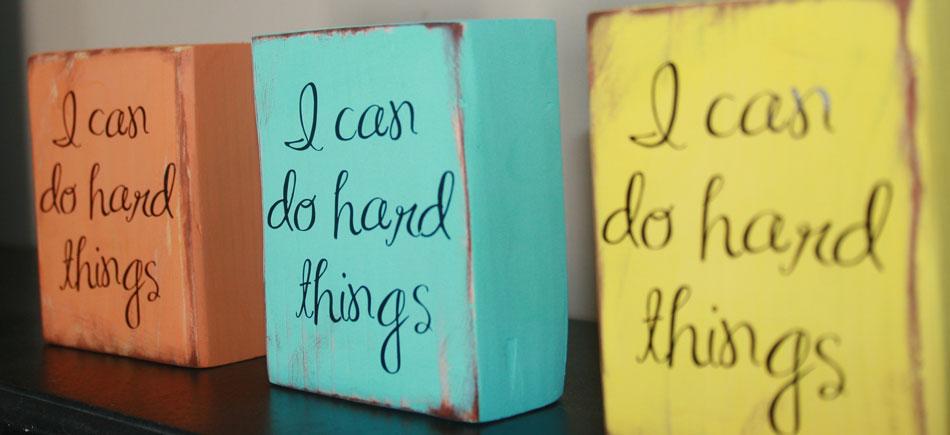 I Can Do Hard Things Blocks