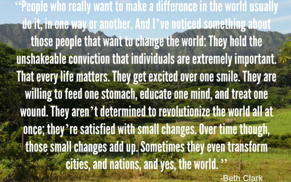 People who really want to make a difference