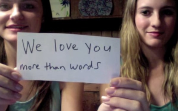 We love you more than words