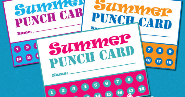 Kicking Off the Summer with Punch Cards – Free Printable
