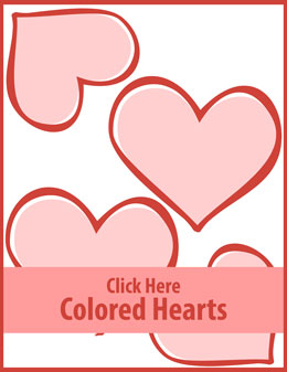 Free printable colored hearts