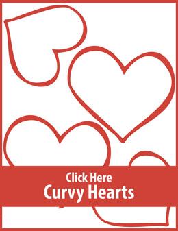 Free printable curvy hearts