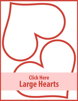 Free printable large hearts