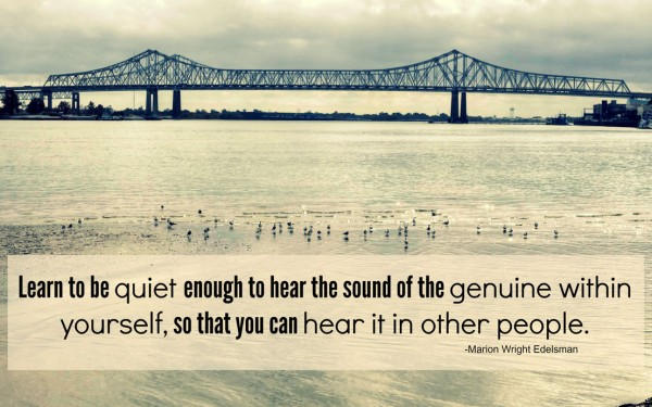Can You Hear the Genuine Within Yourself?