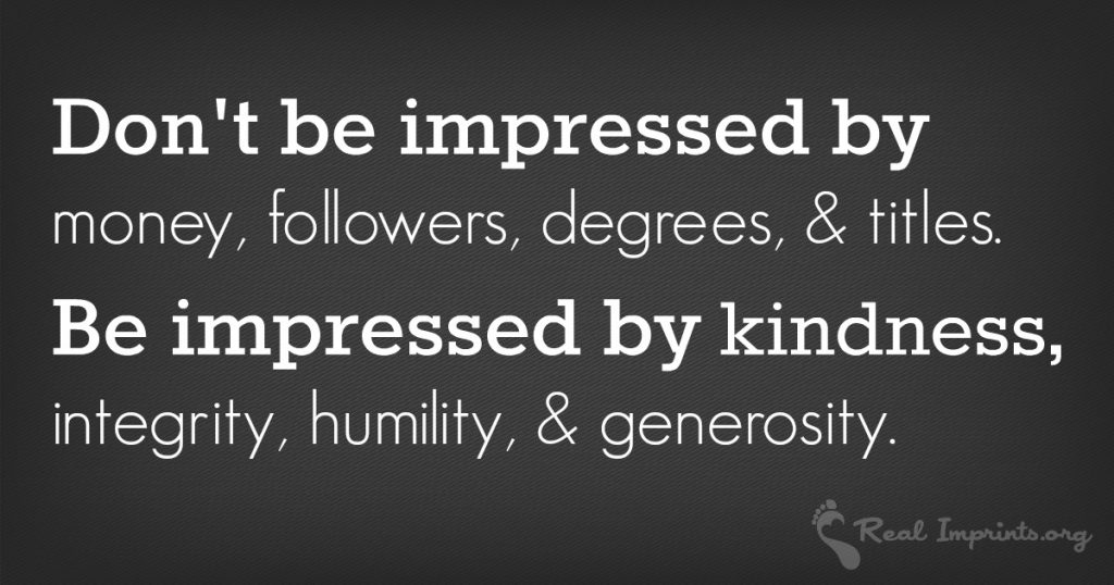 Be Impressed by Kindness