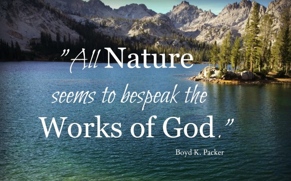 All nature seems to bespeak the works of God