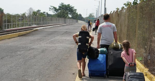 We Never Thought We'd be Crossing a Border on Foot, With Our Belongings on Our Backs.
